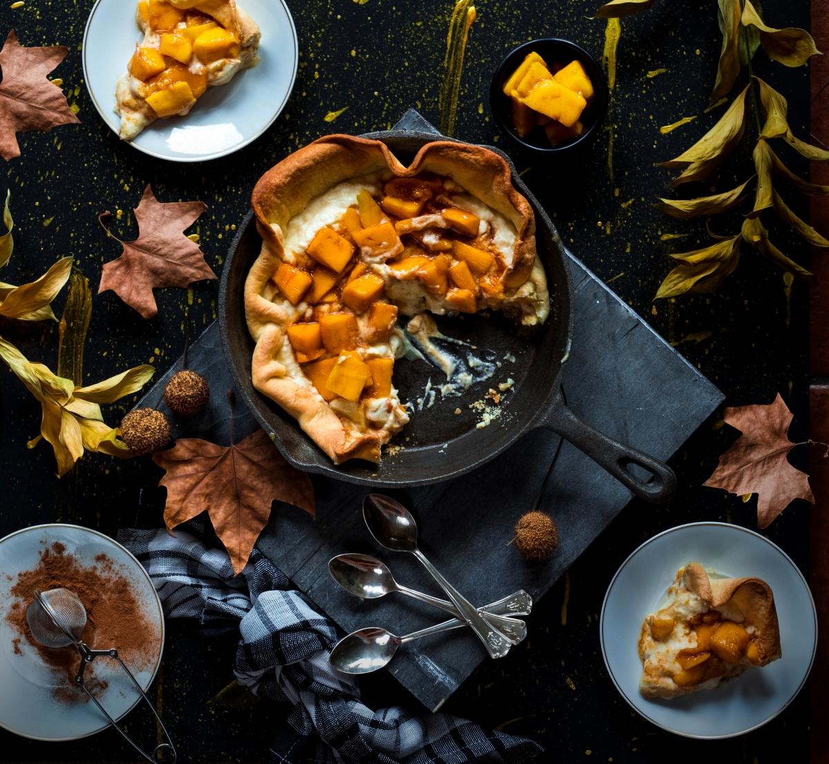 Tarta de mango con Sabayón deMascarpone